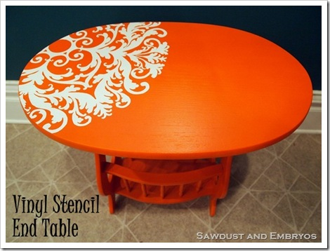 Little orange end table