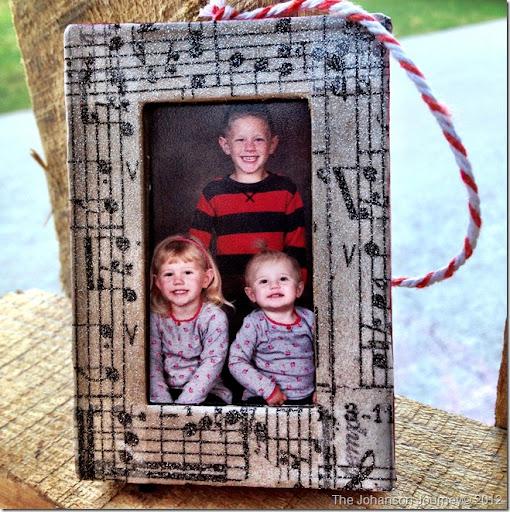 The Johanson Journey Family Frame Ornament FINALE