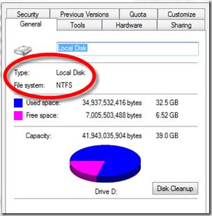 file system hard disk