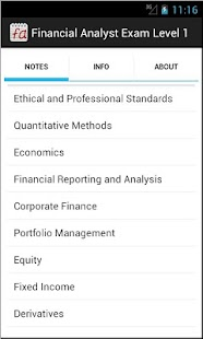 Financial Analyst Exam Level 1 - screenshot thumbnail