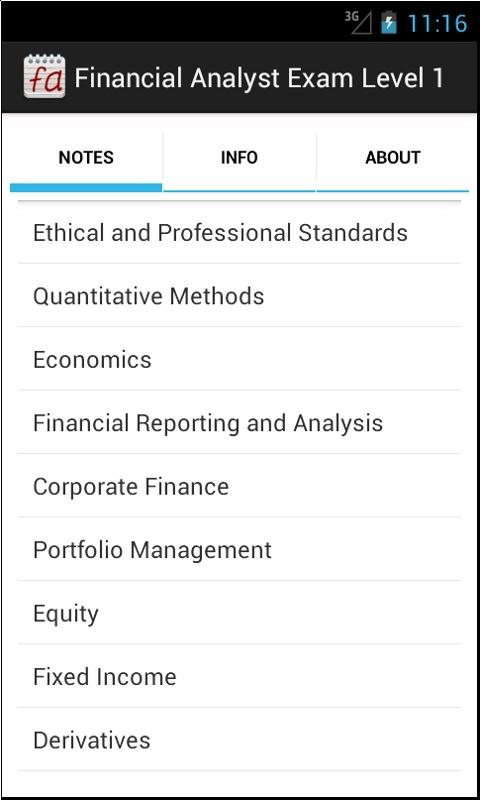 Financial Analyst Exam Level 1 - screenshot