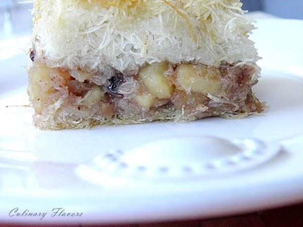 Kataifi with Apples and Raisins.JPG