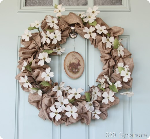 spring dogwood wreath