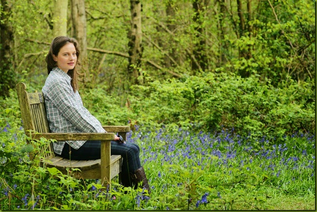 bench in bluebell wood