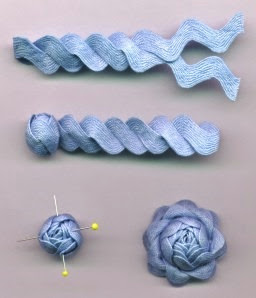 Ric-rac Rose Tutorial by Janet of Vintage Vogue's Nostalgic NeedleART | Lavender & Twill