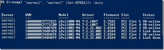 Powershell and root/HPQ: HBA details | 81st Person