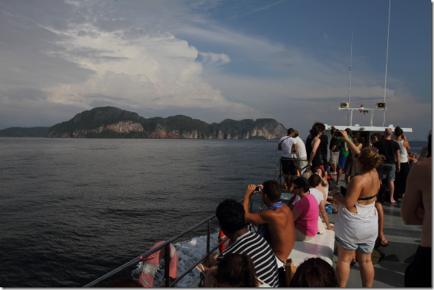 Arriving at the stunning Ko Phi Phi Islands