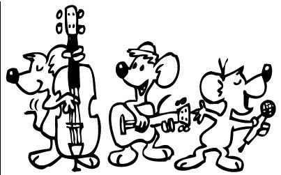La Musica Y Los Animales Dibujos Para Colorear De Animales Que Tocan