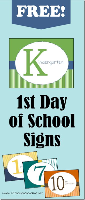 FREE printable First Day of School Signs - these are such simple, stylish back to school signs for Kindergarten - 12 grade.