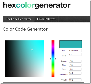 hex colour generator