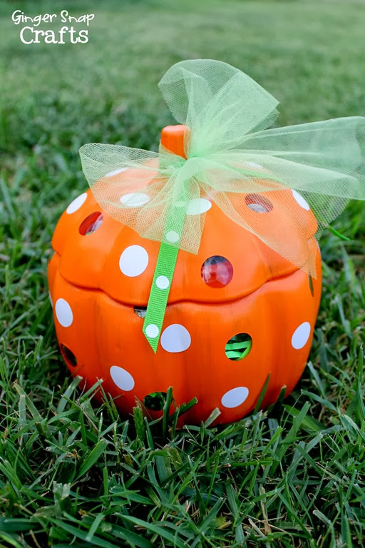 painted glass pumpkin #spon