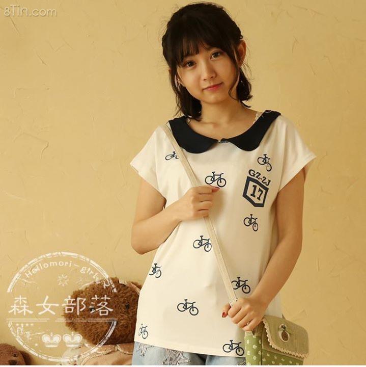 Tshirt cổ pp in nhiều họa tiết ngộ nghĩnh  129TS1415