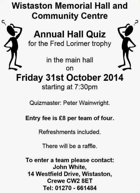 Annual Hall Quiz 2014