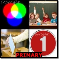 PRIMARY- 4 Pics 1 Word Answers 3 Letters