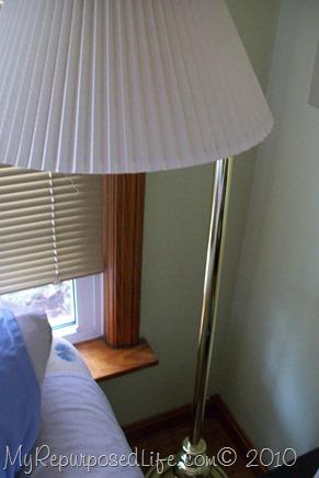brass floor lamp needs updating