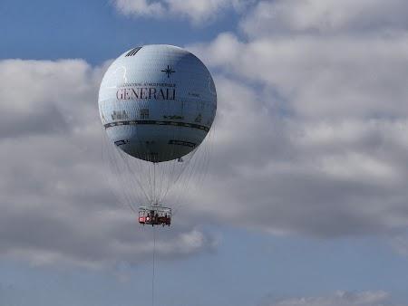 Obiective turistice Franta: Balon pe cerul Parisului