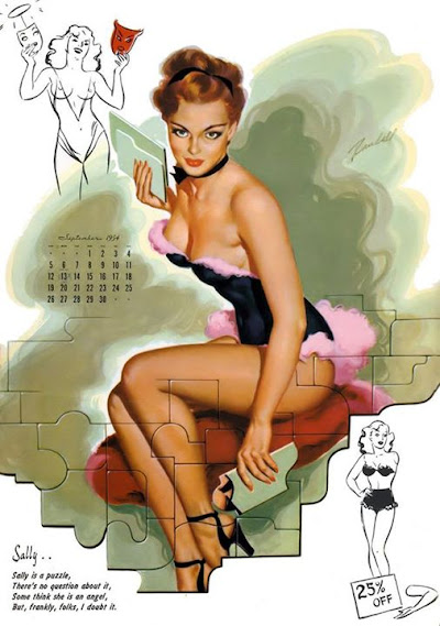 Our September pinup is from the 1954 Date Book Calendar and is