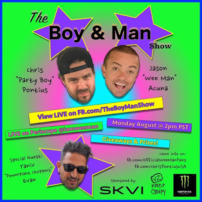 Monday we will be live from powerplant choppers guest starring Yaniv Tune