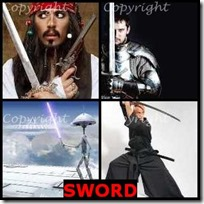 SWORD- 4 Pics 1 Word Answers 3 Letters