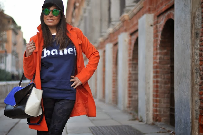 outfit, sweatshirt chanel, borsa jessicabuurman, gossip girl, italian fashion bloggers, fashion bloggers, street style, zagufashion, valentina coco, i migliori fashion blogger italiani