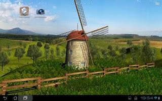 Screenshot of Beautiful Windmill LWP