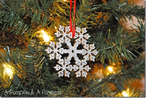 #NUO2012 Glittered Wooden Snowflake Ornaments