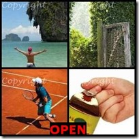 OPEN- 4 Pics 1 Word Answers 3 Letters