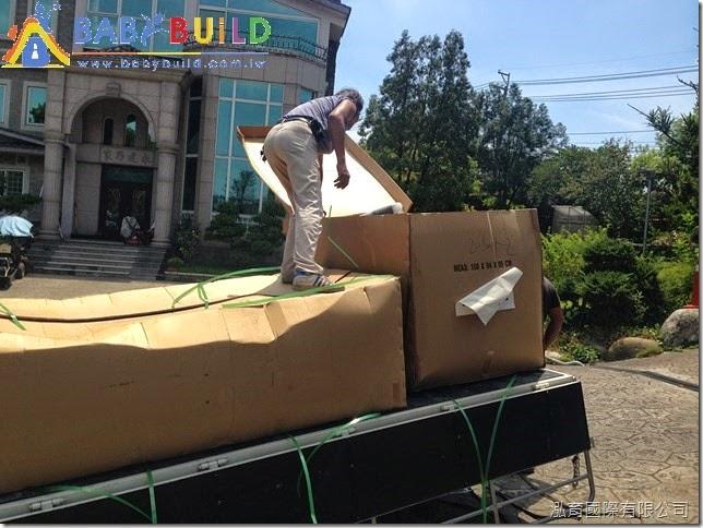 BabyBuild 兒童遊具零組件與施工器具進場