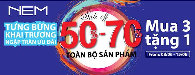 Nem Bắc Ninh khai trương khuyến mãi tới 70%