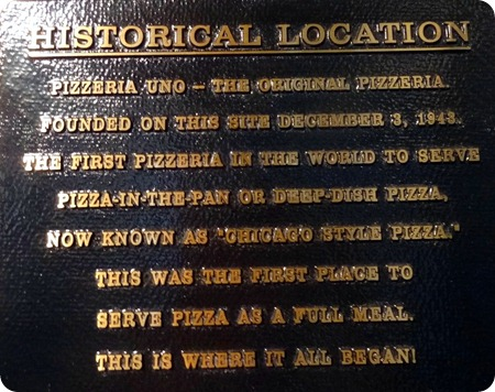 history of Pizzeria Uno