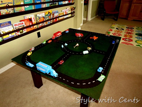 {Style with Cents}: Homemade Toys That Last–Hot Wheels Track