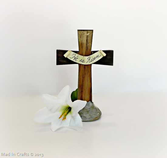 Easter Cross Centerpiece Craft