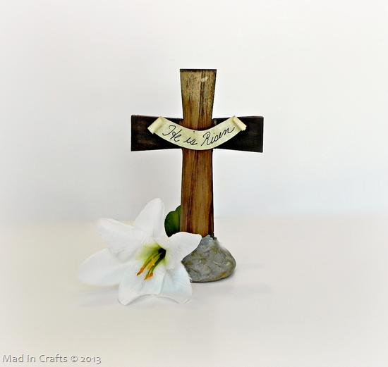 Easter Cross Centerpiece Craft