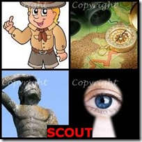 SCOUT- 4 Pics 1 Word Answers 3 Letters