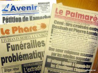 Journaux de Kinshasa, 20 janvier 2011.