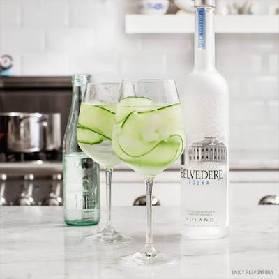 Refined refreshment on the rocks: The Belvedere Cucumber Spritz