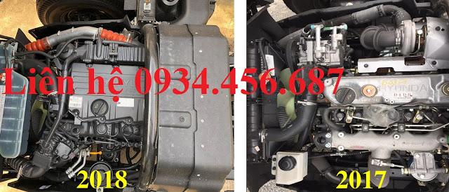Động cơ Hyundai HD110sl thùng bạt