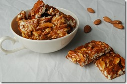 Almond chikki / Almond brittle