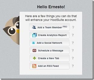 hootsuite welcome tab