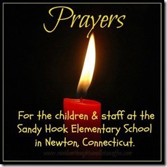 NEWTOWN CT PRAYER CANDLE