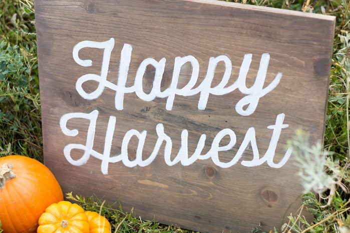 Hand painted stencil Halloween wooden sign, DIY