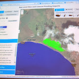 Using tool to  examine a specific area of Maui, Kealia Pond
