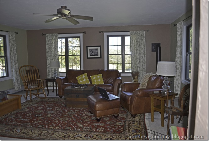 Family room before brown