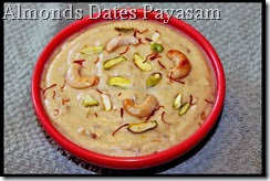 Almonds Dates Payasam