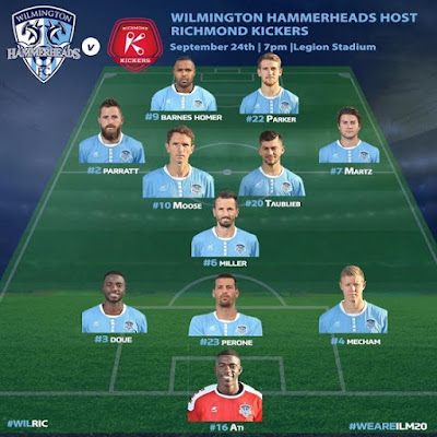 Heres your Hammerhead starting lineup Kickoff at 7 pm WeAreILM20 CapelliSport WI
