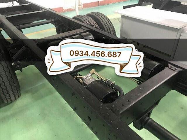 Hệ thống chassi, phanh hơi xe Hyundai HD120sl 8 tấn thùng bạt