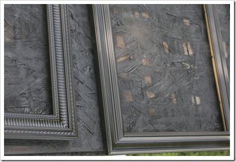 Spray painted photo frames