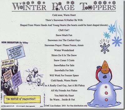 Winter Page Ideas