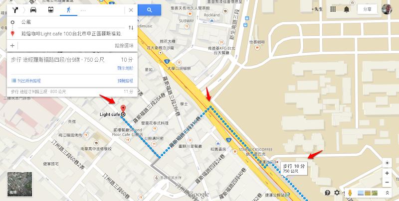 路燈咖啡 Light cafe 捷運路線圖.png