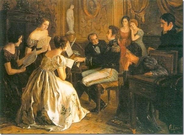 Dom Pedro compondo o hino da independencia